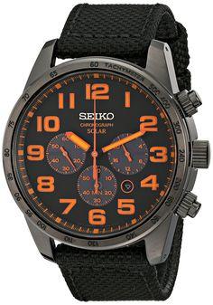 Seiko Men's SSC233 Sport Solar Analog Display Japanese Quartz Brown Watch