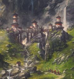 Fantasy world for kings, queens, and knights. Visionary medieval world.