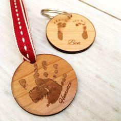 Personalised Handprint Or Footprint Keyring