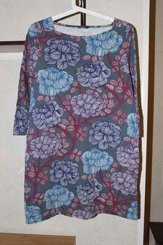 Gorgeous Ladies Marimekko Mussukka Dress 3/4 Sleeve With Pockets Size M Flowers #Marimekko
