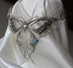 Silver Elven LOTRinspired crown by Belethil on Etsy
