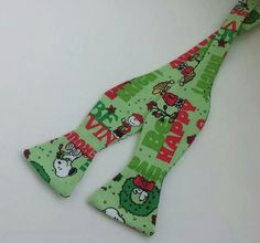 Snoopy Christmas Bowtie. www.mkt.com/candyjboutique