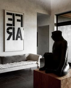 Grey And White, Sofa, Sculpture, Photo And Video, Interior Design, Instagram Posts, Projects, Photography, Furniture