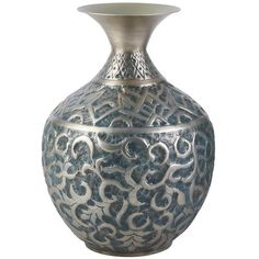 Embossed Pewter Vases from Pier One Imports.