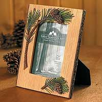 4209602691:Pinecone Picture Frame