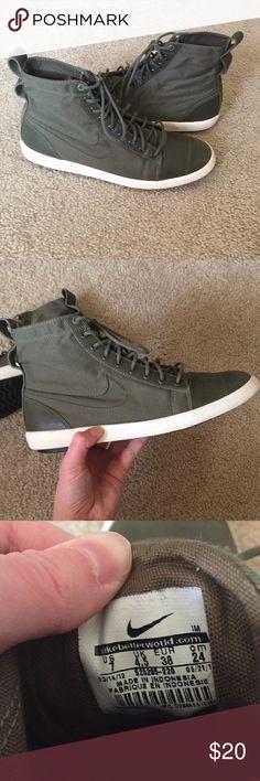 Spotted while shopping on Poshmark: Olive Green Nike High Tops! #poshmark #fashion #shopping #style #Nike #Shoes