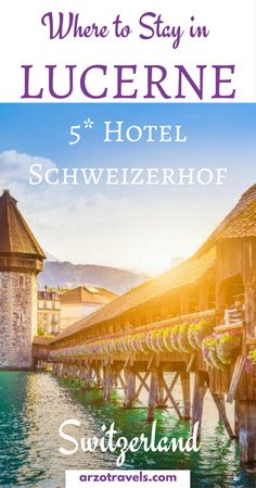 If you are looking for a classic and fancy accommodation just a stone throw from the Chapel Bridge in Lucerne check out this hotel and read my hotel review of Schweizerhof Lucerne - a classy luxury festival hotel in Switzerland, Lucerne.