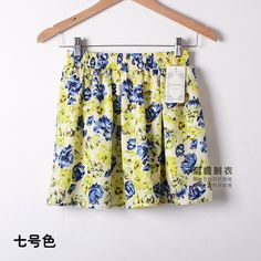 Fashion  mini sexy floral skirt Women High Waist concise chiffon Elastic A word skirt for Party Gift D3060-in Skirts from Women's Clothing & Accessories on Aliexpress.com | Alibaba Group
