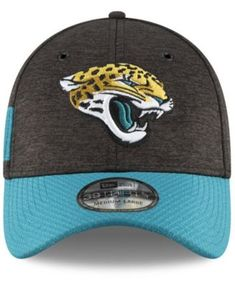 d2e42d57 New Era Jacksonville Jaguars On Field Sideline Home 39THIRTY Cap - Black/ Teal L/XL