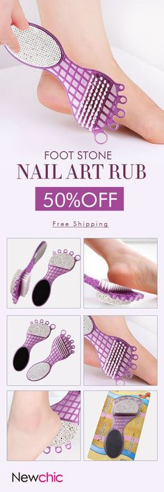 [Newchic Online Shopping] 48%OFF Foot Stone Nail Art Rub | Personal Care | Foot Care