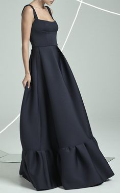 Cora Frill Hem Gown by RACHEL GILBERT for Preorder on Moda Operandi
