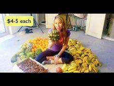 High Carb Raw Vegan diet 1 week of food. BananaGirl Vlog.