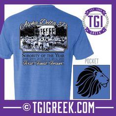 Alpha Delta Pi - TGI Greek - Comfort Colors - Greek T-shirts - #TGIGreek #AlphaDeltaPi