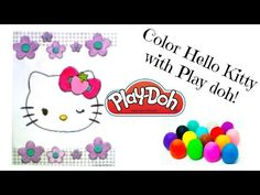 Play Doh Coloring Book: Hello Kitty Strawberry Bow - YouTube