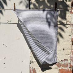 DISH TOWEL - linen black stripe
