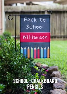 Dress up your garden with these personalized garden flags! They are great as a…