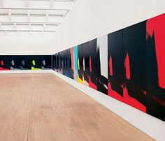 Shadows: #AndyWarhol #Shadows #exhibition #Bilbao #Spain @MuseoGuggenheim #painting #canvases #art