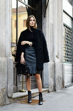.ankle boots, no tights jacket over shoulders