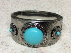 Turquoise Fashion Bangle Silver Bracelet Turquoise Fashion, Trendy Jewelry, Bangles, Bracelets, Vintage Earrings, Gemstone Rings, Gemstones, Silver, Fashion Jewelry