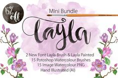 Mini Bundle Font Layla 15% Off by mr.rabbit on Creative Market