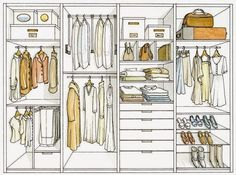 We usually fight with our clothes and their space. Something doesn't fit in the closet (Closet Designs That Will Fitted For Clothes) Wardrobe Design Bedroom, Walk In Wardrobe, Bedroom Wardrobe, Walk In Closet, Closet Space, Wardrobe Organisation, Closet Organization, Ideas Armario, Dressing Room Design