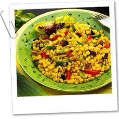 Provensálský salát - kukuřice, cuketa, paprika