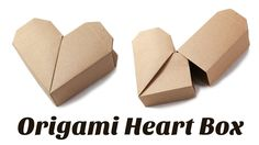 Instructions to make a cute origami heart box. This box has a surprising lid whi… Instructions to make a cute origami heart box. This box has a surprising lid which can't be seen upon first glance. Would make a great gift box. Box Origami, Origami Gifts, Cute Origami, Origami And Kirigami, Useful Origami, Origami Paper, Oragami, Dollar Origami, Origami Ball