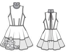 Платье: Burda 1/ 2014/ 124 / Burdastyle