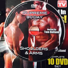 """SHOULDERS & ARMS.  **Supreme 90Day System, """"Get Ripped in 90Days!"""" Shoulder Arms, Workout Calendar, Get Ripped, Dvd Set, Nutrition Guide, See On Tv, Supreme, Boot Camp"""