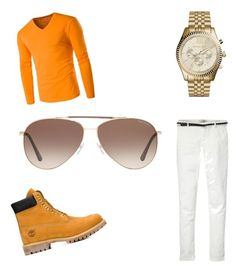 """Orange man!"" by thegamingcookie on Polyvore featuring Maison Scotch, Timberland, Michael Kors, Tom Ford, men's fashion and menswear"
