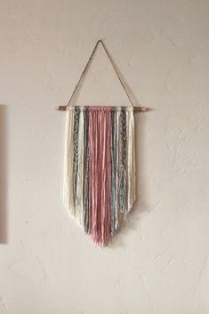 Modern Yarn Wall Hanging by BraidedLovelies on Etsy