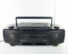 Mint REALISTIC CD-3305  Stereo Boombox Ghettoblaster AM FM Radio CD 2x Cassette #Realistic