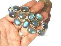 LABRADORITE Sterling Silver 925 Gemstone Bracelet - Boxed | eBay Bracelet Gift Box, New Shoes, Sterling Silver Bracelets, Labradorite, Gemstone Rings, Gemstones, Ebay, Jewelry, Jewlery