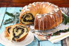Cake with poppy seeds Hungarian Cake, Polish Recipes, Polish Food, Swirl Cake, Poppy Seed Cake, Cheesecakes, Bagel, Doughnut, Poppies