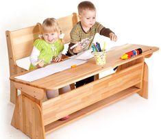 Masa de birou din lemn de fag, Ecodesk, L120xl55h46 cm #homedecor #interiordesign #inspiration #school #desk #kids Toy Chest, Storage Chest, Back To School, Toys, Interior, Furniture, Design, Home Decor, Activity Toys