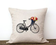 bike with basket and flowers outline - Google Search