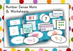 Number Sense Mats and Cut and Paste Worksheets