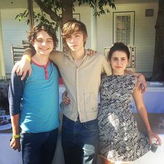 Max Burkholder, Miles Heizer and Mae Whitman | #Parenthood