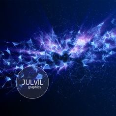 Beautiful digital background with abstract particles.