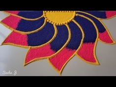 Very simple and beautiful rangoli design Easy Rangoli Designs Diwali, Best Rangoli Design, Rangoli Simple, Indian Rangoli Designs, Rangoli Designs Latest, Latest Rangoli, Small Rangoli Design, Colorful Rangoli Designs, Rangoli Ideas