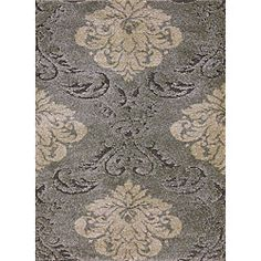 @Overstock - This Jullian rug features a durable power-loom construction and a thick 1-inch pile. This shag rug features varying pile heights for added texture and a grey and ivory floral design. http://www.overstock.com/Home-Garden/Jullian-Grey-Shag-Rug-77-x-106/5106460/product.html?CID=214117 $291.99