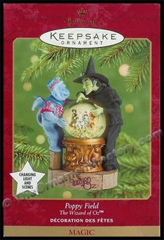 WIZARD OF OZ~1999 Enesco Christmas Ornament~Cowardly Lion Figure Figurine~MIB