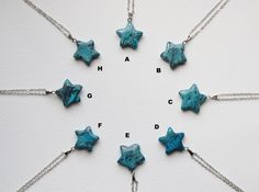 Check out this item in my Etsy shop https://www.etsy.com/dk-en/listing/481464197/blue-agate-star-gemstone-necklace