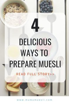 Learn 4 awesome ways to eat With all the variation, you'll never tire of this wholesome, healing cereal! (How to Eat Muesli Healthy Eating Blogs, Clean Eating Food List, Clean Eating Breakfast, Healthy Breakfast Smoothies, Vegan Breakfast Recipes, Organic Food Online, Organic Cereal, Vegan Food List