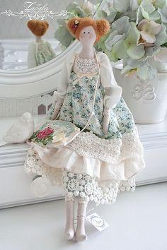 Купить Кукла в стиле Тильда Хлоя - кукла ручной работы, кукла, текстильная кукла