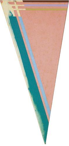 Kenneth Noland-A Piece, 1986, 91,5x42,5 acrylic on shaped canvas http://decdesignecasa.blogspot.it