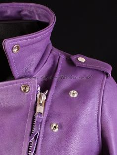 silver and purple motorcycle | JW Style Ladies' Ruffle Front or Motorcycle Jacket Isotoner SmarTouch ...