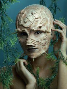 Sea Creature: Makeup by Tu Alien Makeup, Movie Makeup, Sfx Makeup, Costume Makeup, Scary Makeup, Maquillage Halloween, Halloween Makeup, Halloween Zombie, Halloween Costumes