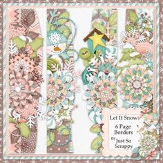 Let It Snow Page Borders
