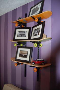 Skateboard Rooms x games skateboard speaker shelf   skater room   pinterest